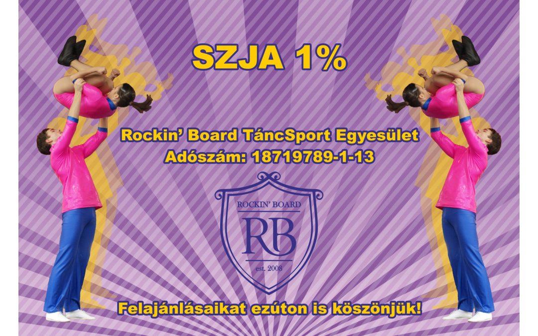 Adód 1%-ával támogathatod a Rockin' Board TSE sportolóit